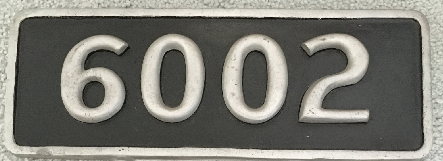 NYCS Steam Locomotive Number Plate (Hudson Number Painted - Aluminum)