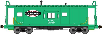 Bluford N-Scale NYC Bay Window Caboose (Half Window Version)(Pre-Order)