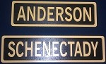NYCS Station Sign (Poplar inlay painted  gold and black)