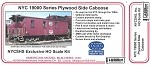 HO-Scale NYC 19000 Plywood Side Caboose Kit