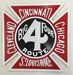 Colorful CCC&St. L (Big Four) Logo Plaque